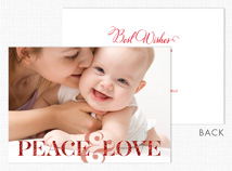 Peace & Love Holiday Photo Card